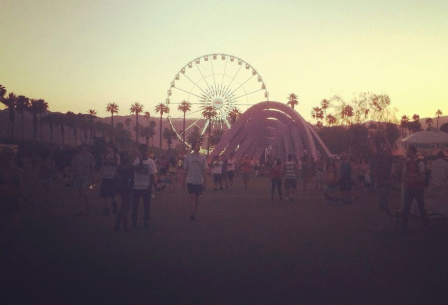 Sunset over Coachella.