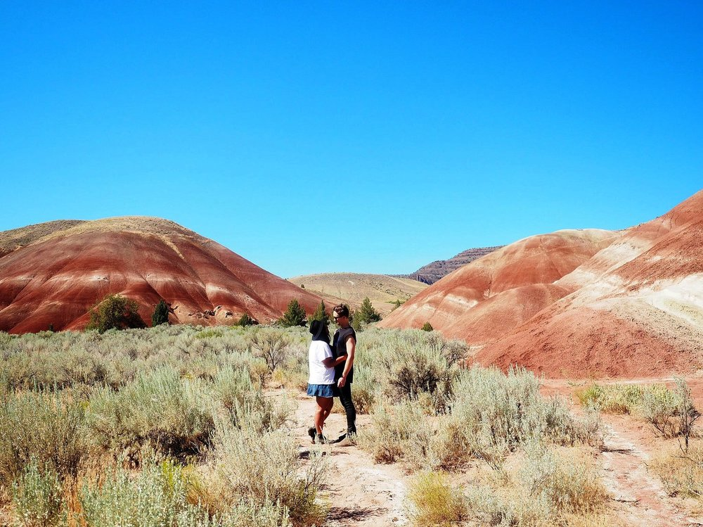 WANDERING ALONG THE PAINTED HILLS -