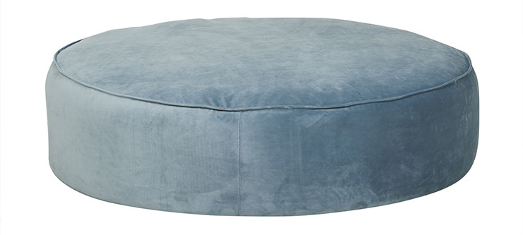 Vittoria Retreat Round Ottoman - GlobeWest