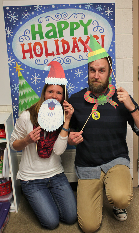 My wife and I getting in the holiday spirit!
