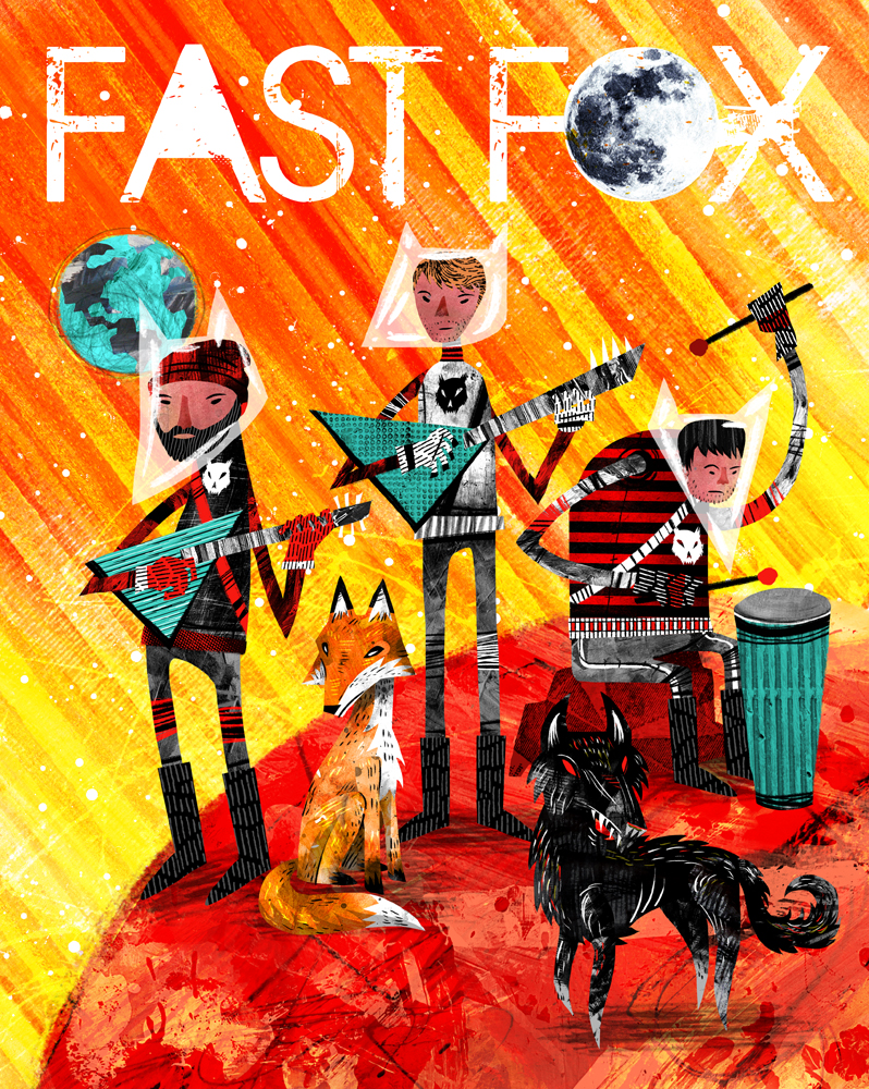 Concert poster (Fast Fox)