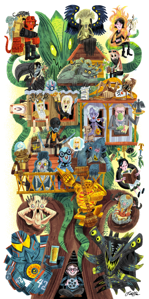 """Toro's Treehouse"" Guillermo Del Toro tribute show (Gallery 1988 West)"