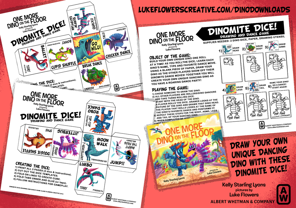 Now You Can Create Your Own Unique Dancing Dino With Every Roll Of These Dinomite Dice All Need Are Printable