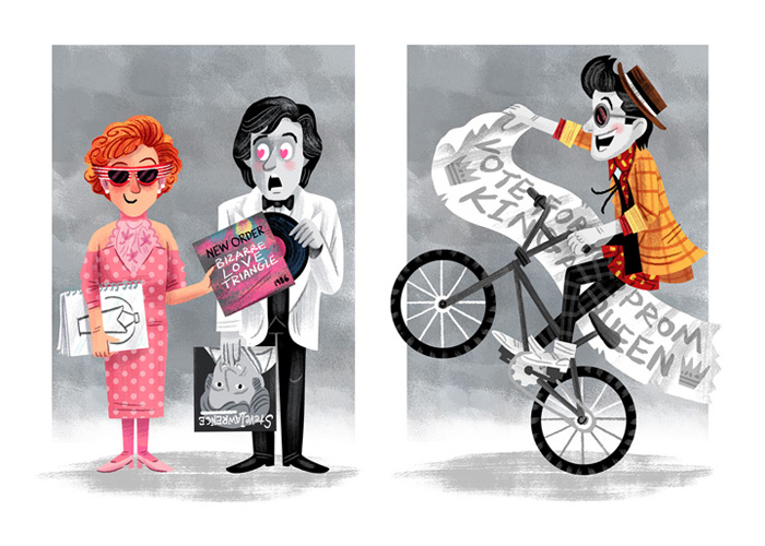 """Love for the 3rd Wheel"" / Pretty In Pink  Save Ferris - John Hughes show (Popzilla Gallery)"