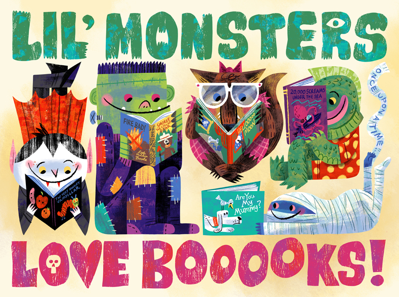 """Lil' Monster Books"" Literary Monsters, Creatures & Beasts ... OH MY! show (Briargate Barnes & Noble)"