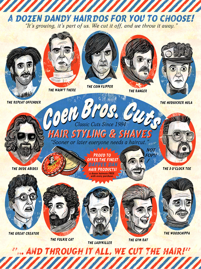 """Coen Bros. Cuts"" Coen Brothers tribute show (Gallery 1988 West)"