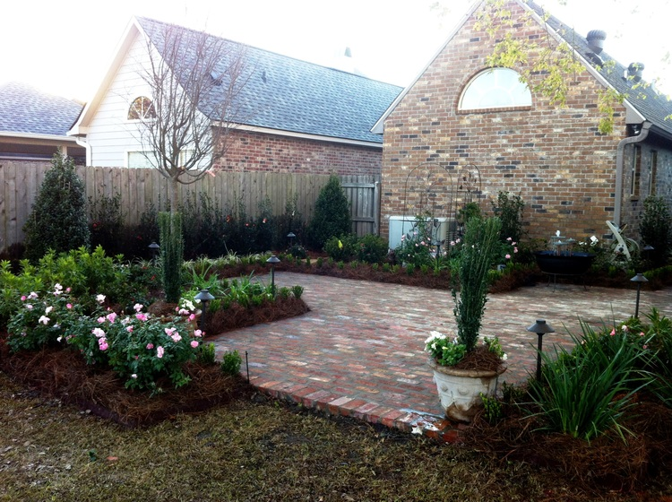 Backyard Landscape Installation, Baton Rouge, LA - Greenscape Design