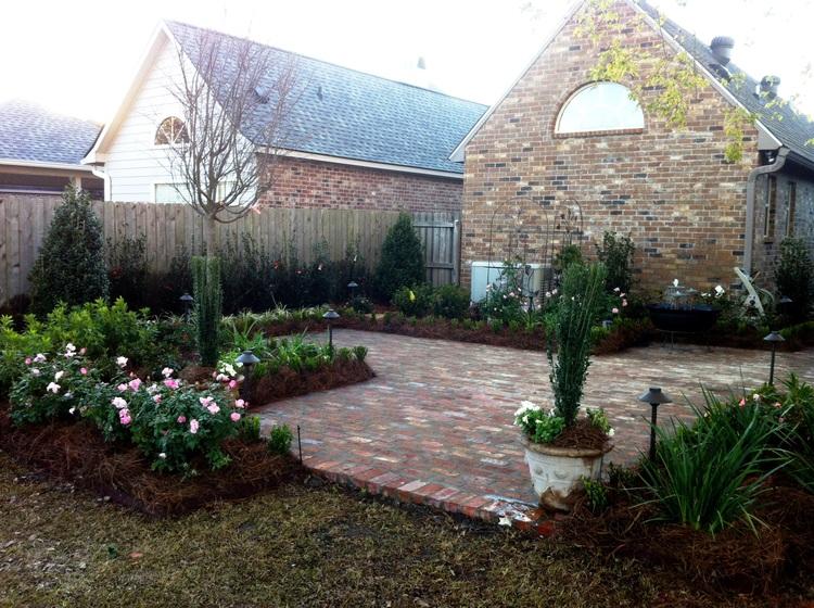 Backyard Landscape Installation, Baton Rouge, LA - Greenscape Design