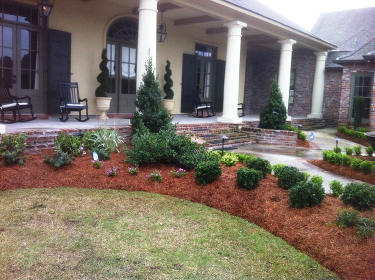 Landscape Installation with Flowers, Baton Rouge, LA - Greenscape Design