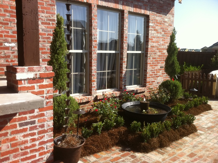 Landscape Installation with Fountain, Baton Rouge, LA - Greenscape Design