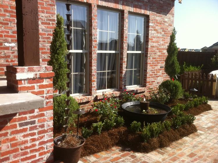 Landscape Installation with Fountain, Baton Rouge, LA - Greenscape Design