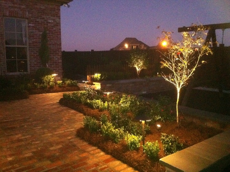 Outdoor Lighting Backyard, Baton Rouge, LA