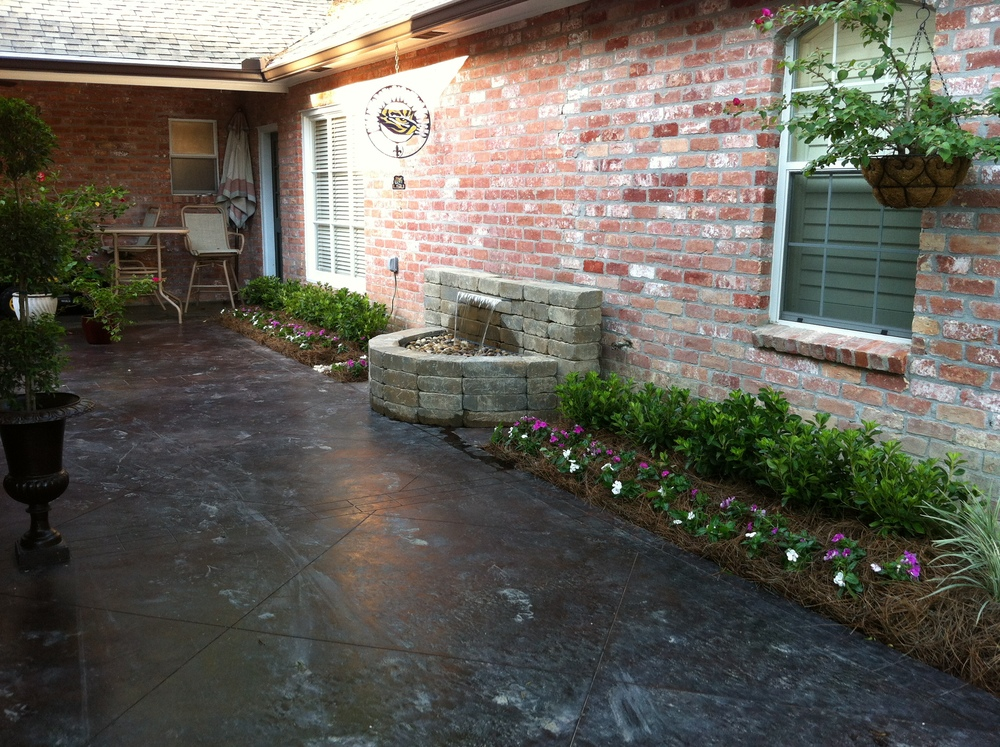 Water Fountain Installation, Greenscape Design - Baton Rouge, LA