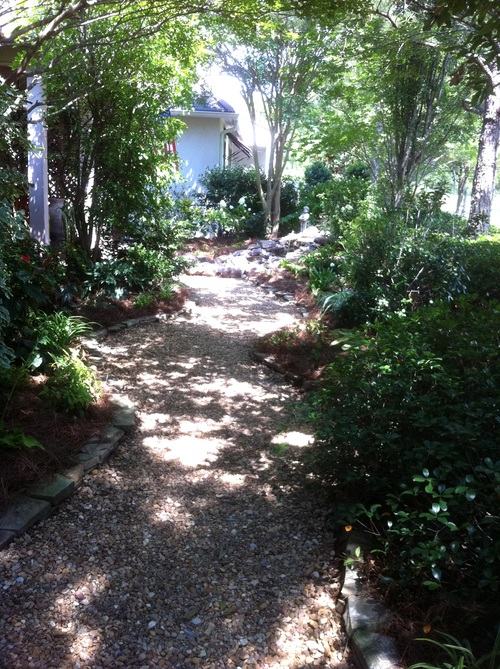 Landscape Architecture with Pathway, Greenscape Design - Baton Rouge, LA