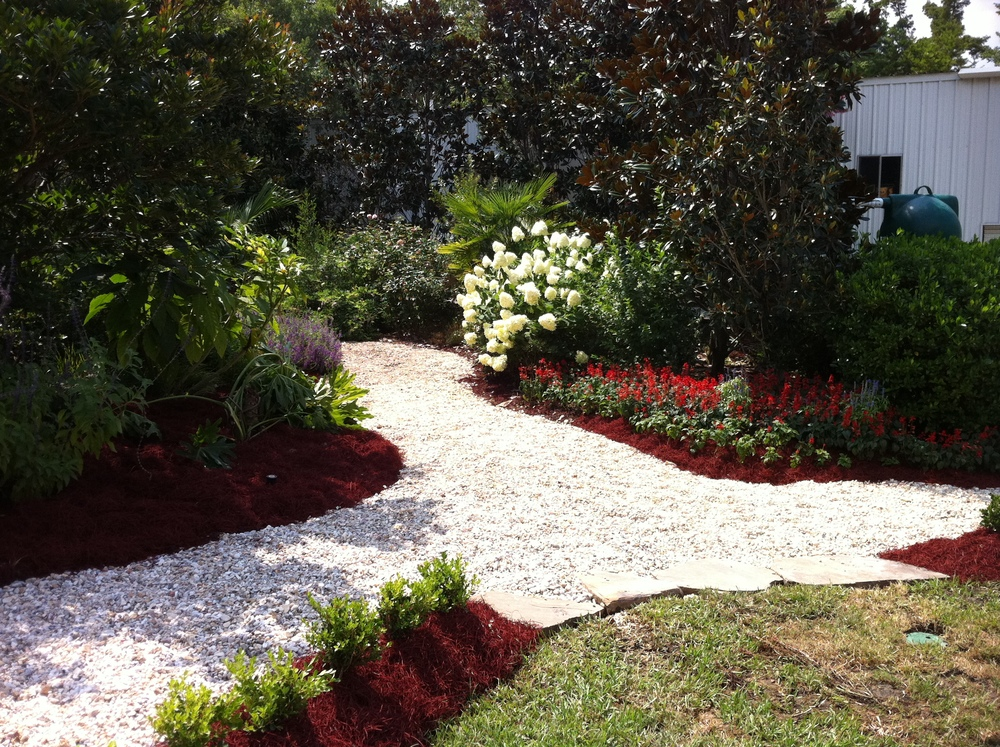 Landscape Installation with Walkway, Greenscape Design - Baton Rouge, LA