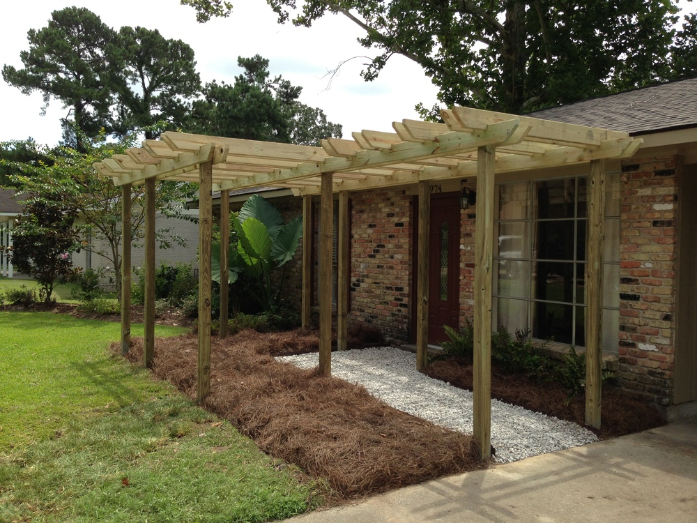 Pergola on Lawn, Greenscape Design - Baton Rouge, LA