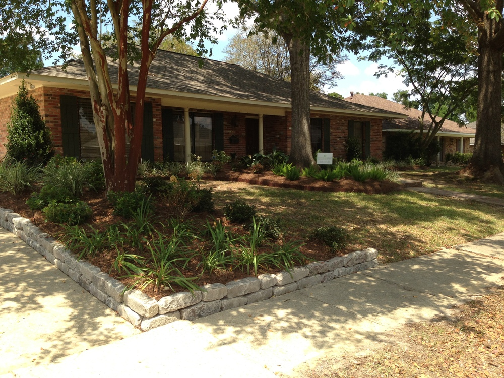 Front Yard Landsaping, Greenscape Design - Baton Rouge, LA