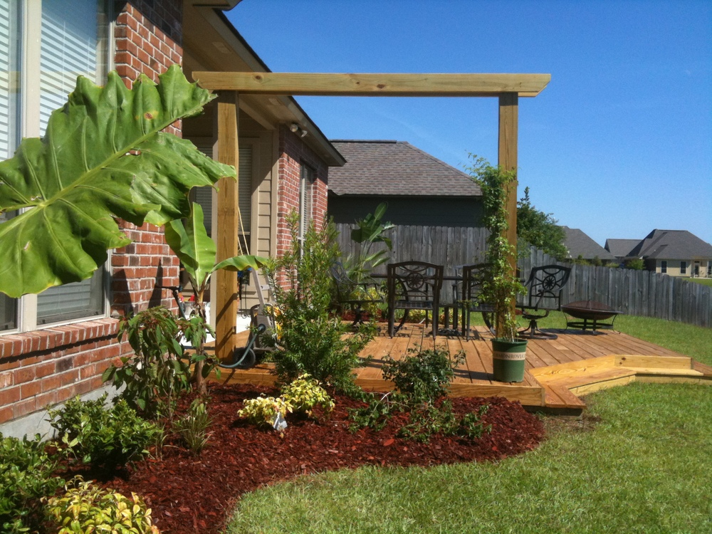 Deck in Backyard, Greenscape Design - Baton Rouge, LA