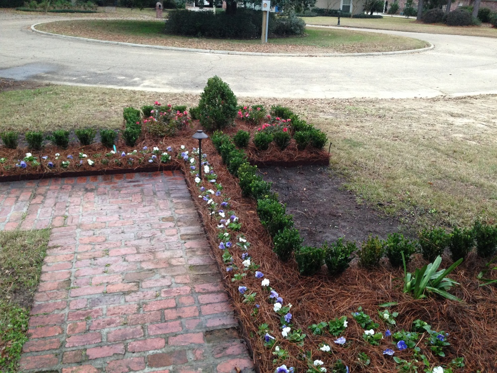 Pathway with Flowers, Greenscape Design - Baton Rouge, LA