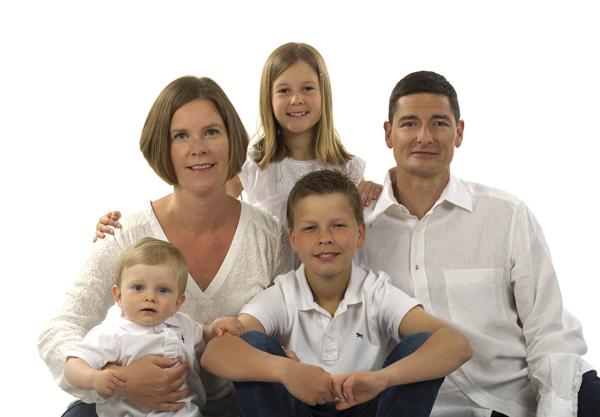 familjefotografering studio FotoAnna Trosa
