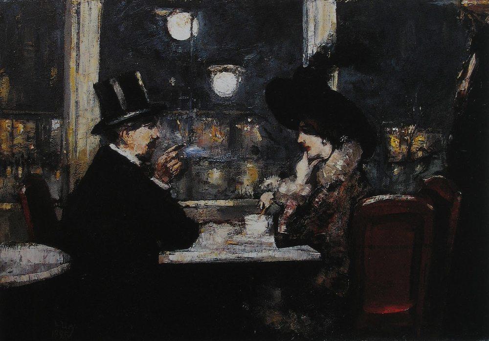 Lesser Uryn maalaus Cafe Bauerista vuodelta 1895