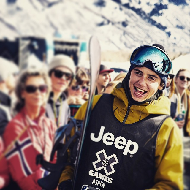 Yeahhhh Sparky!!!!!!!@markmcmorris congrats on a another @xgames gold medal! @burtonsnowboards @xococoho