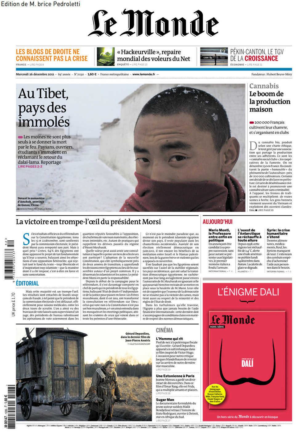 Le Monde Tibet Dec 2012-1.jpg