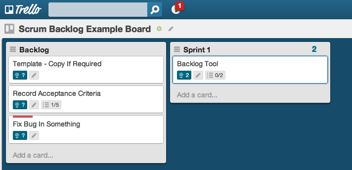Trello Backlog Sample Board