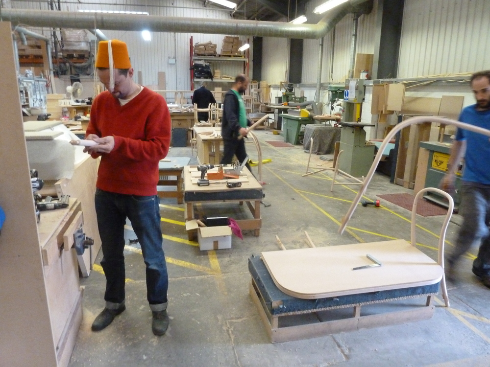 Furniture Designer in Lloyd Loom Factory,Carl Clerkin,William Warren and Gareth Neal.