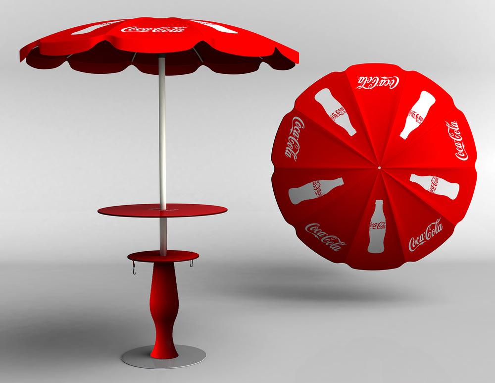 Coca-Cola parasol
