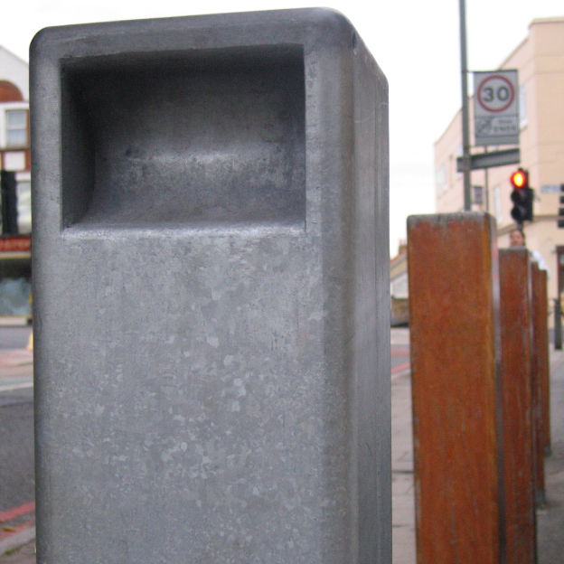 Fabricated in-house bollards