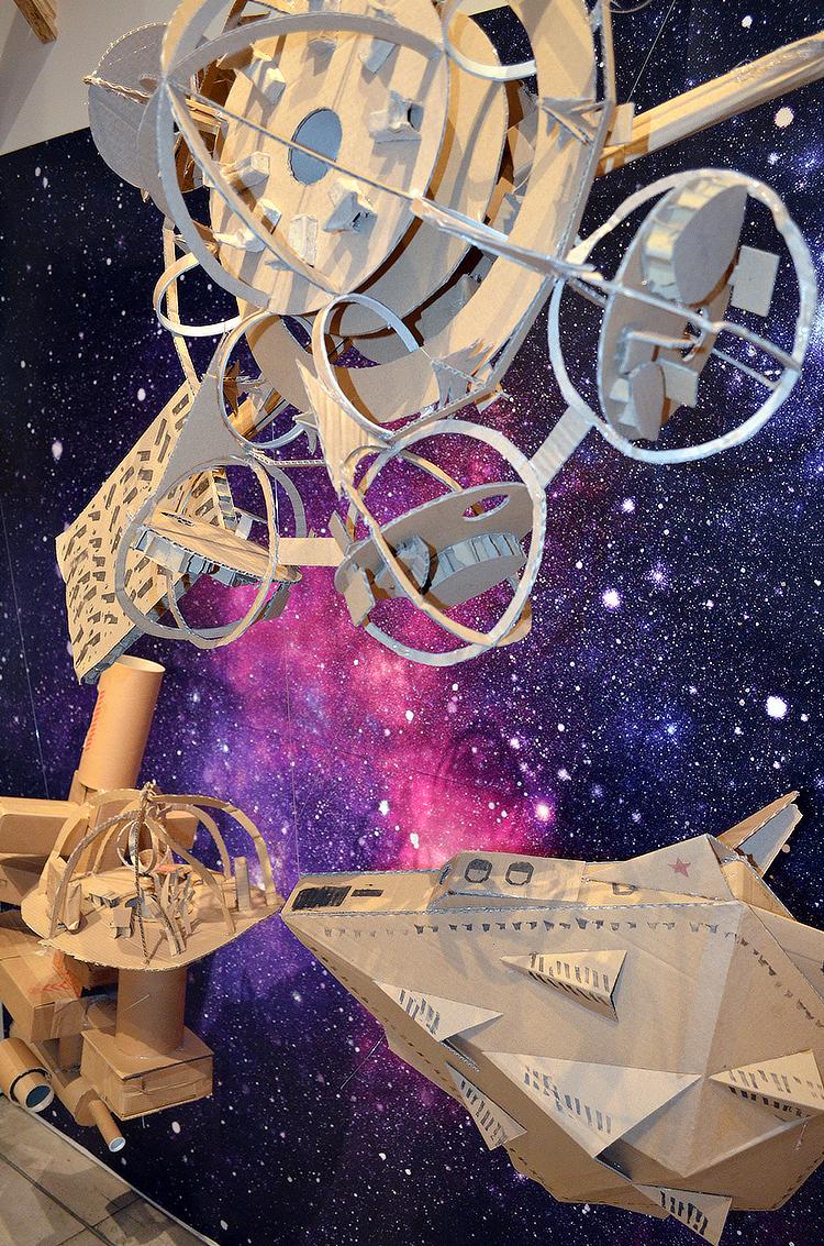 Bolton University Saturday Design Club: cardboard spaceships