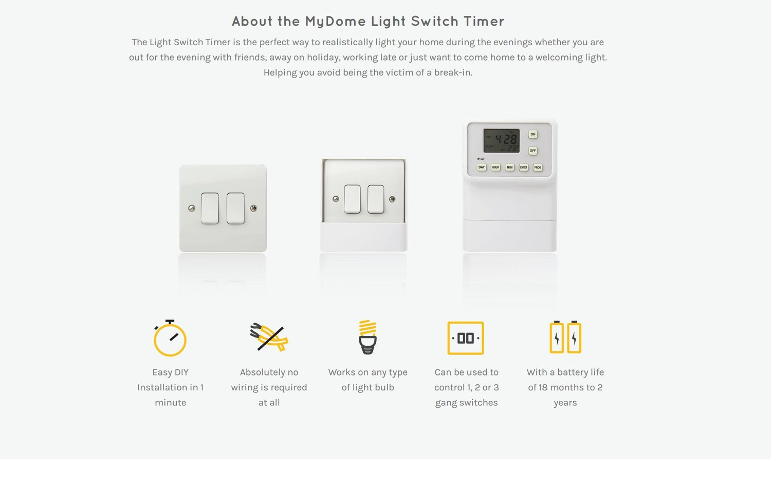 Amos Marchant Design Studio Review Giveaway Light Switch Timer 3 Way Mydome