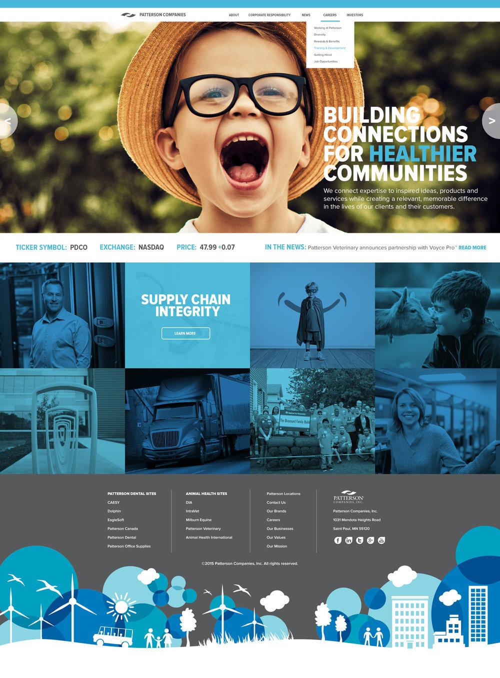 Patterson Corporate Site Design Concept