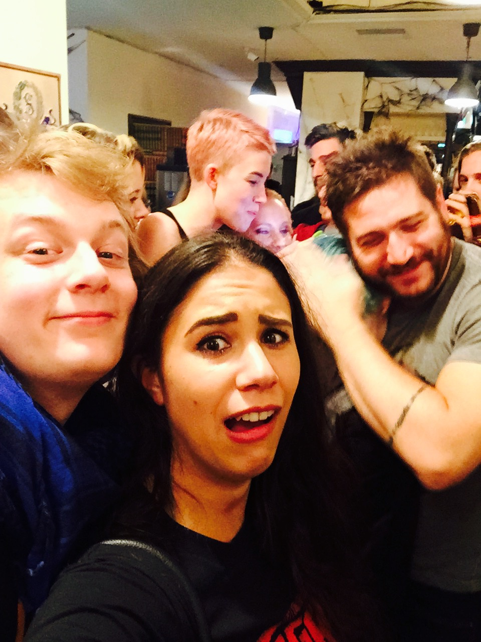 ... Adam Kovic hugging people and silly faces