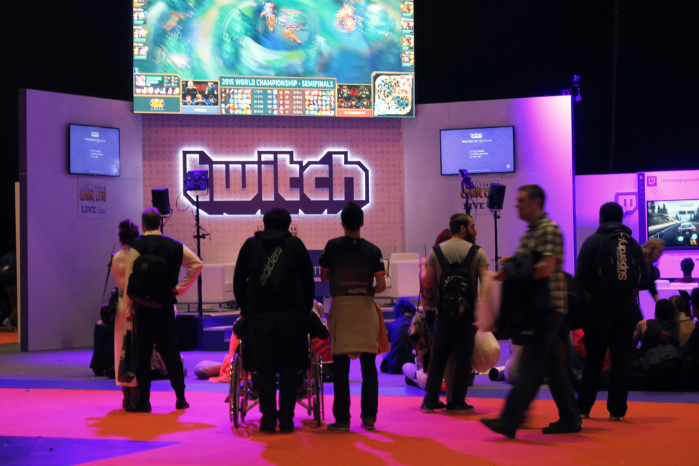 Twitch-booth, just before the first stream began