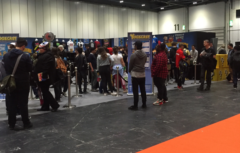 The line to Yogscast, which doubled shortly after