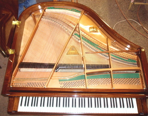 Frame and Strings of grand pianos