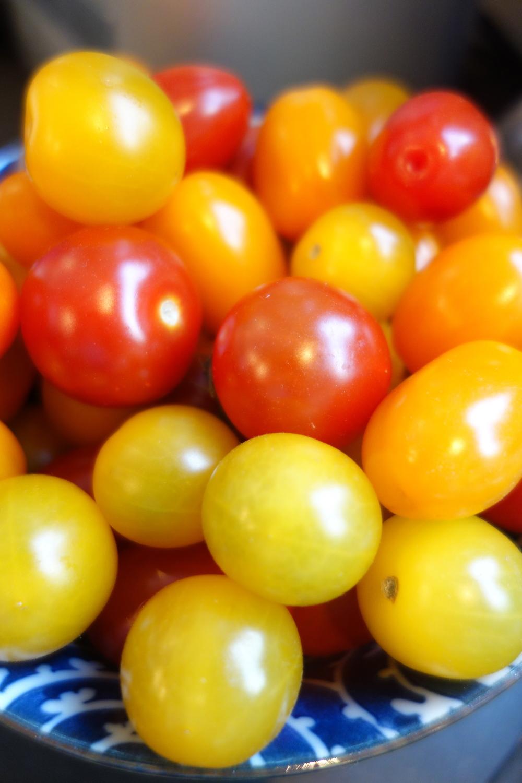Les tomates cerises, de vrais bonbons ;-)
