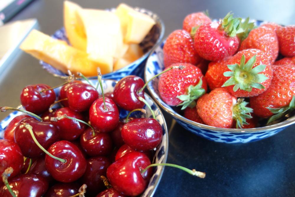 Des cerises, des fraises et du melon… rien de meilleur