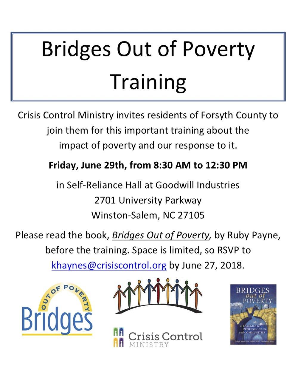 Bridges training flyer for community June.jpg