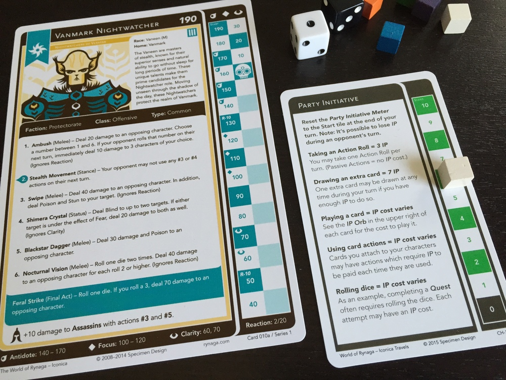 The Party Initiative card tracks your Initiative Points (IP).