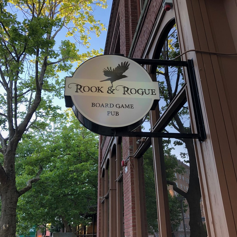 Rook and Rogue Game Pub in Bellingham, WA.