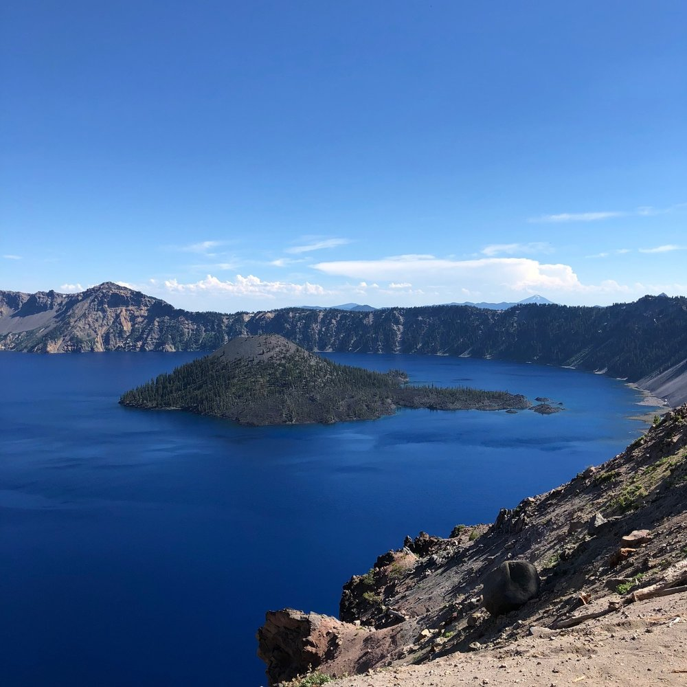 Majestic Crater Lake.
