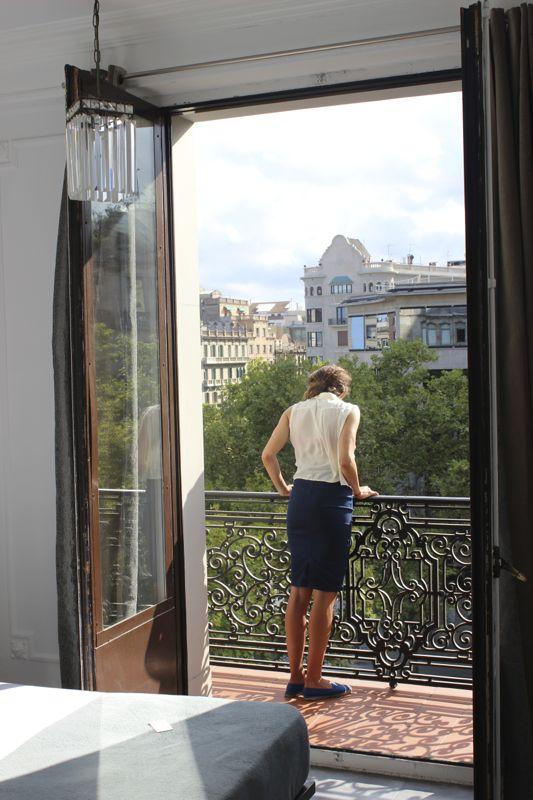 Room balcony with view of Passeig de Gracia