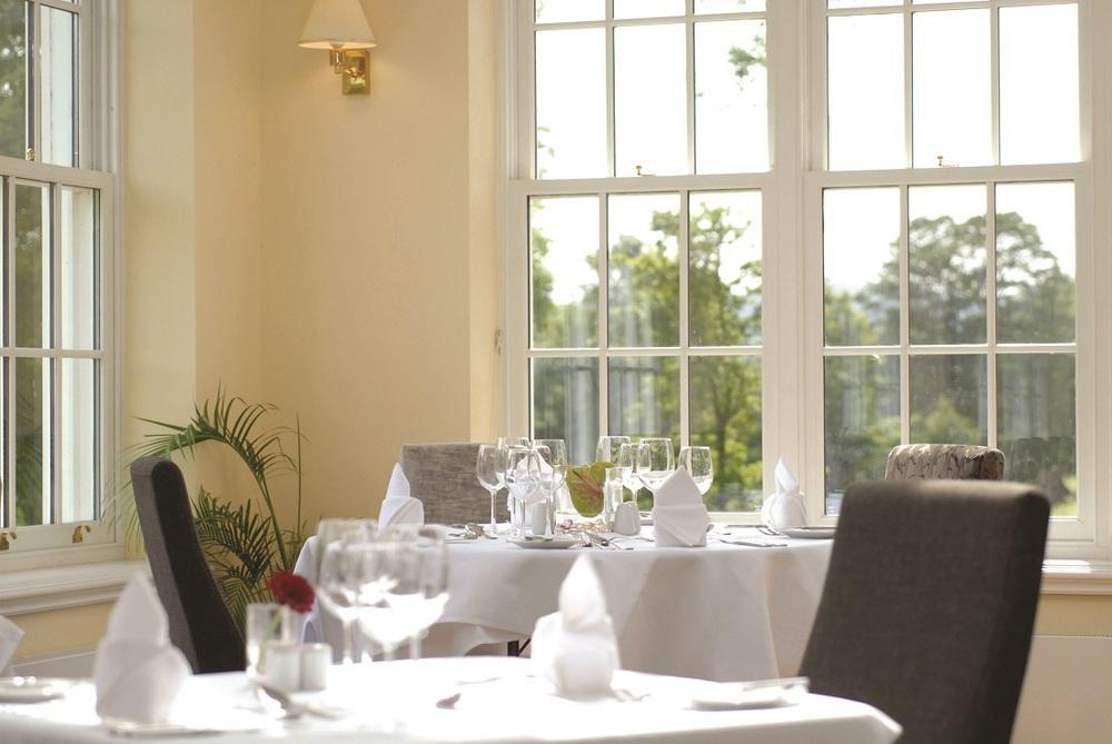 The award winning Orangery Restaurant in the Peak District