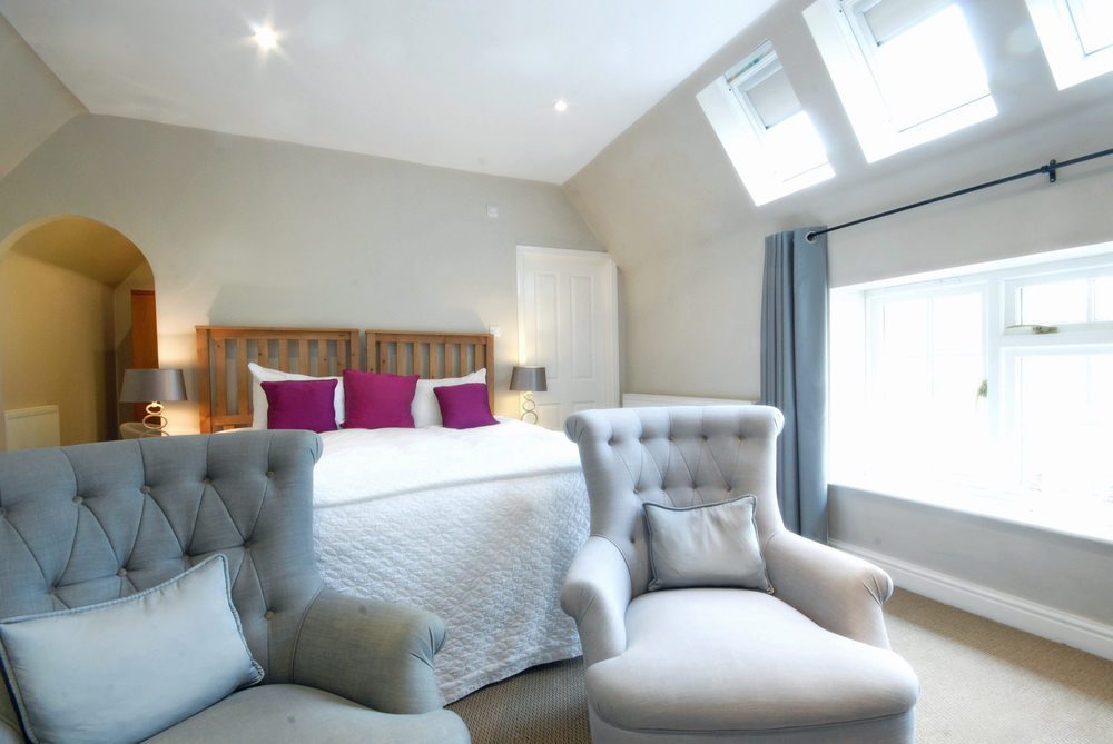 Luxury 4 star deluxe king room at Losehill House Hotel and Spa