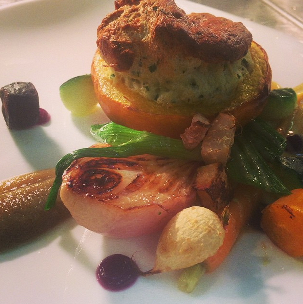 Baby pumpkin, dovedale blue soufflé, autumn veg and Jerusalem artichoke reduction..png