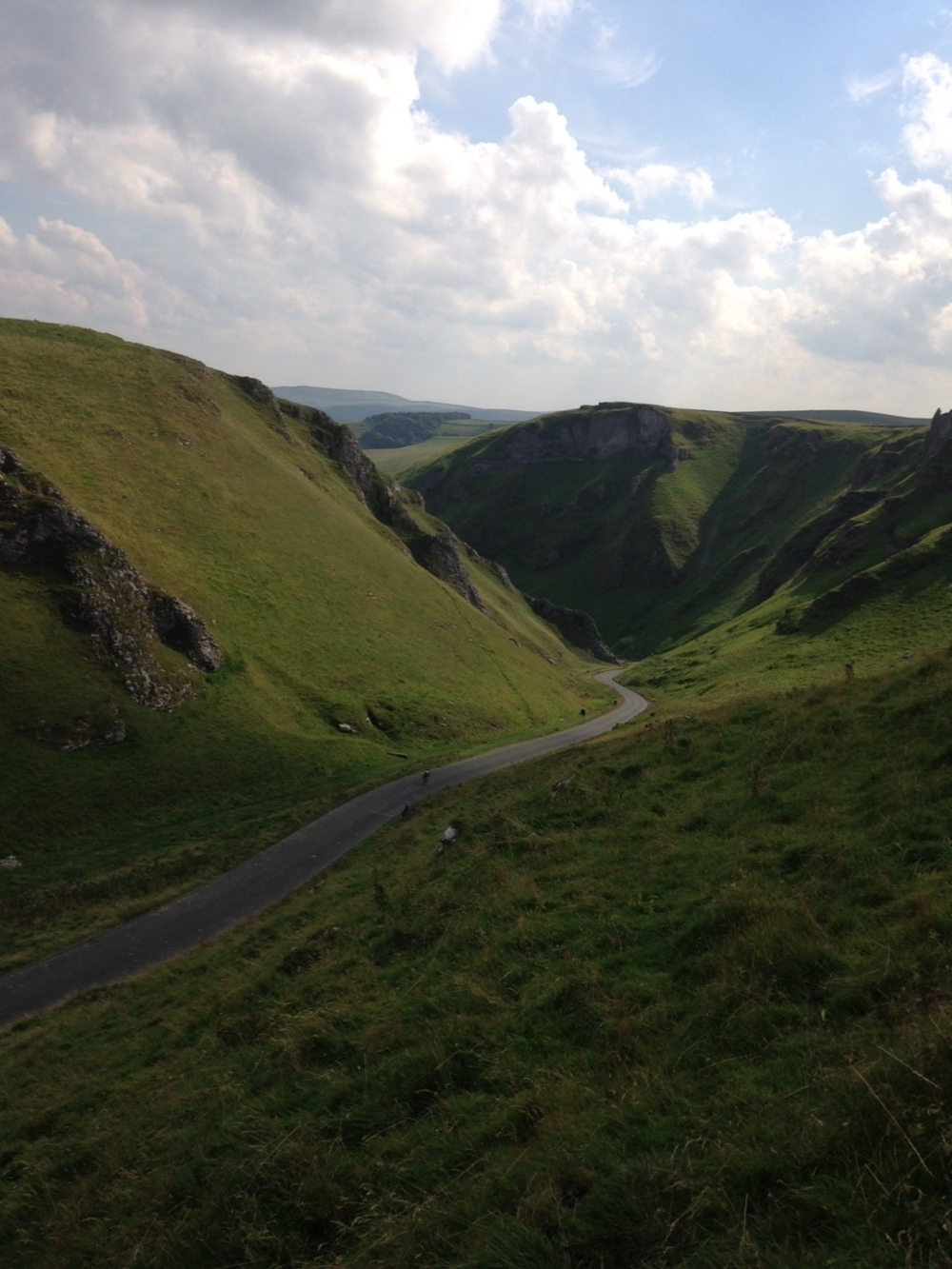 Waiting for Cyclists at Winnats Pass near Losehill House