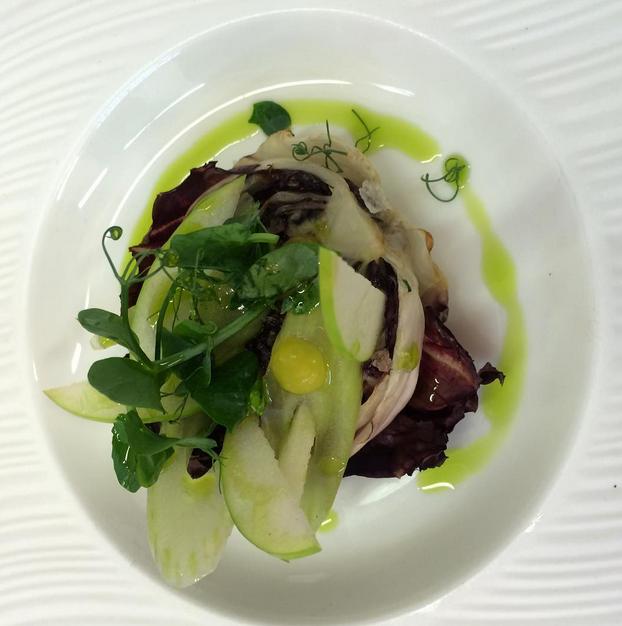 BBQ Losehill radicchio, apples, celery, chive #vegan #tastingmenu.png